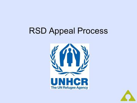 RSD Appeal Process. Agenda: (2 hrs.) Introductions/Icebreaker (10 min.) Purpose of an Appeal Reasons for Rejection Writing your Appeal Statement Activity: