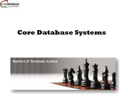 Core Database Systems. Do you perform any of these for your clients?  Application development  Portal development  Content Management  Project Management.