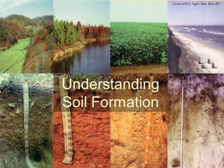 Understanding Soil Formation Cover of N.C. Agric. Res. Bull. 467.