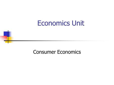 Economics Unit Consumer Economics. Unit Overview I.Types of Economic Systems II.Microeconomics III.Macroeconomics.