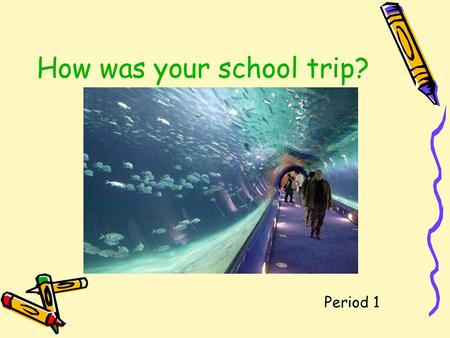How was your school trip? Period 1 Ask and answer in pairs. --How was your weekend? --It was fantastic/great/OK/boring. --What did you do last weekend?
