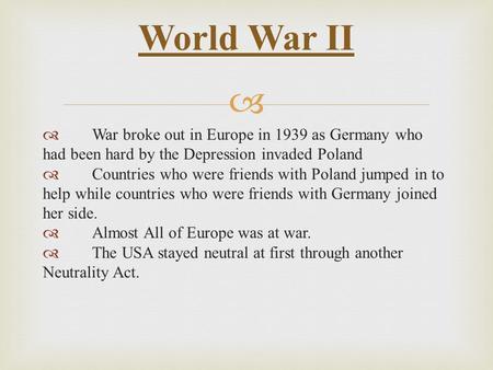 why did war break out in 1939 essay