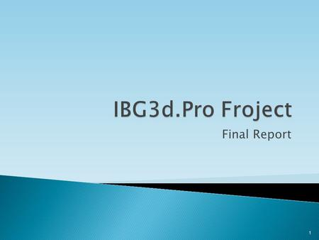 Final Report 1. 2 3 Idea and Overview 1 Scope 2 Hardware and software 3 Algorithm 4 Experiments & Results 5 Conclusion 6.