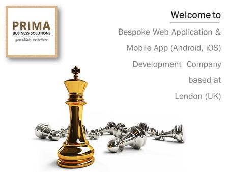 Welcome to Bespoke Web Application & Mobile App (Android, iOS) Development Company based at London (UK)