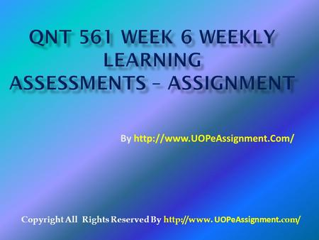 Fin 571 week 4 individual assignment