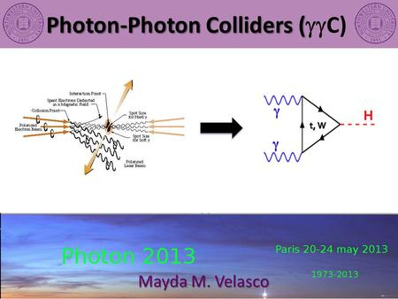 Photon-Photon Colliders ( Photon-Photon Colliders (  C) Mayda M. Velasco.