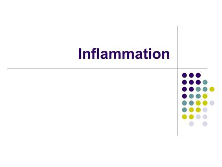 Inflammation. Definition Inflammation is a non specific, localized immune reaction of the organism, which tries to localized the pathogen agent. Many.