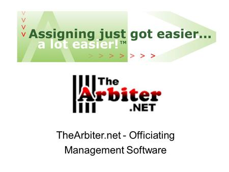 TheArbiter.net - Officiating Management Software.