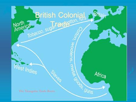 The Triangular Trade Route British Colonial Trade.