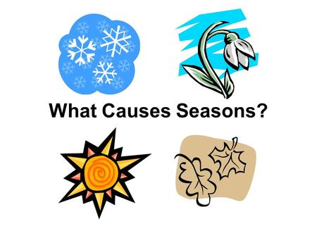 What Causes Seasons?. Learning Target I know what causes seasons on earth.