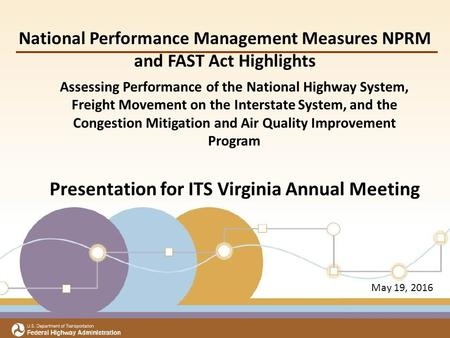 Assessing Performance of the National Highway System, Freight Movement on the Interstate System, and the Congestion Mitigation and Air Quality Improvement.