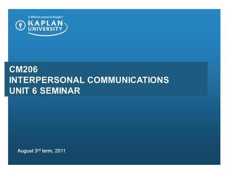 term paper on interpersonal communication
