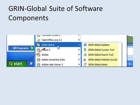 GRIN-Global Suite of Software Components. Updater.