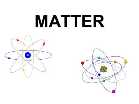 MATTER. Matter is anything that takes up space. All MATTER exists as either SOLIDS LIQUIDS or GASES. These are called the three states of matter. There.