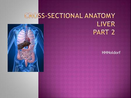 Cross-Sectional Anatomy LIVER Part 2