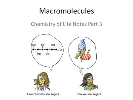 Macromolecules Chemistry of Life Notes Part 3. Remember: Key Elements in Biological Systems C H N O P S Carbon Hydrogen Nitrogen Oxygen Phosphorous Sulfur.