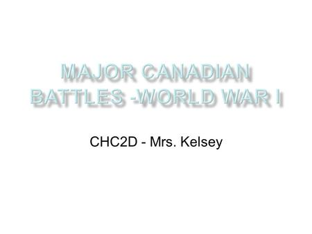 CHC2D - Mrs. Kelsey. Beginning of the War Germany knew it would have to fight both France and Russia The German plan was to attack through neutral Belgium,