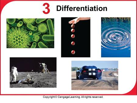 Copyright © Cengage Learning. All rights reserved. 3 Differentiation.