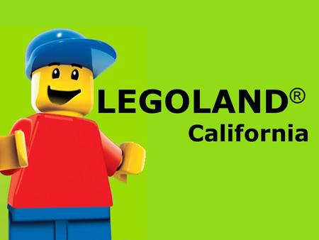 LEGOLAND ® California. About LEGOLAND 1/3 LEGO in Latin means I put together or I assemble. In June 1968, LEGOLAND ® Billund opened for the first.