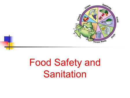 Food Safety and Sanitation Next Generation Science / Common Core Standards Addressed! CCSS. Math. Content.HSS ‐ ID.A.2 Use statistics appropriate to.