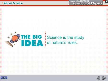 1 About Science Science is the study of nature's rules.