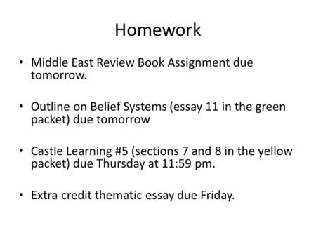 Belief Systems Essay