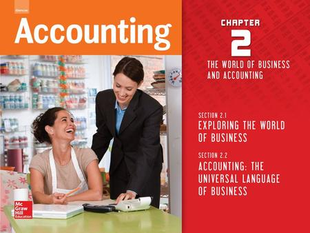 Copyright © by McGraw-Hill Education. All rights reserved. Accounting The accounting system produces information used by businesses to make decisions.