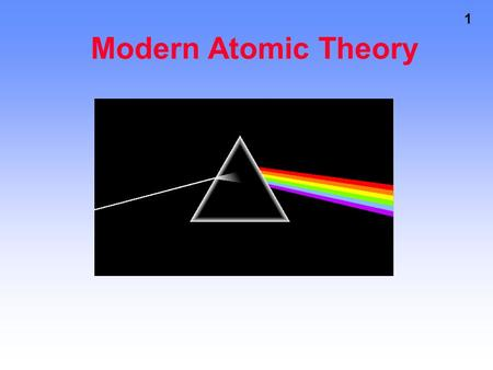 1 Modern Atomic Theory. 2 In the Rutherford model electrons traveled about the nucleus in an orbit. The Problem with Rutherford Scientists know that just.