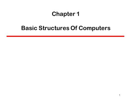 1 Chapter 1 Basic Structures Of Computers. Computer : Introduction A computer is an electronic machine,devised for performing calculations and controlling.