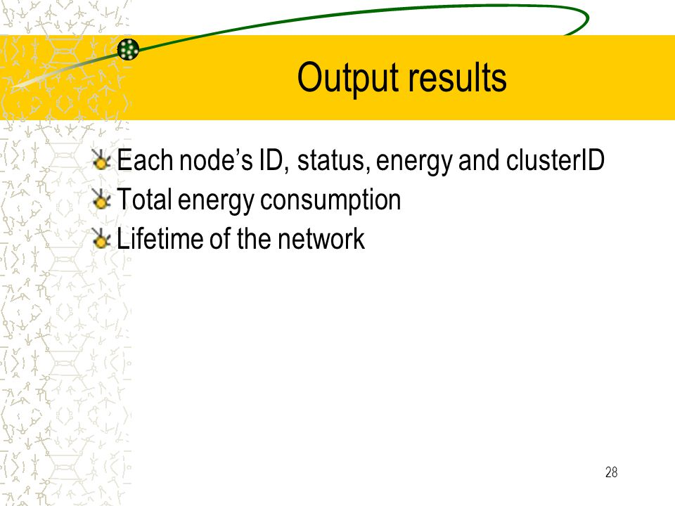 29 Number of Nodes DRC consumes less energy and has longer lifetime than LEACH and predefined clustering (A) Energy Consumption(B) Network Lifetime