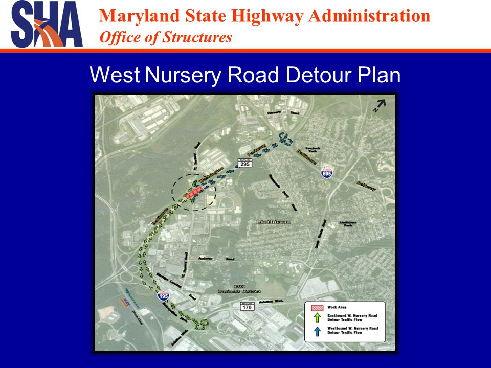 Maryland State Highway Administration Office of Structures Maryland State Highway Administration Office of Structures B r i d g e S t a g i n g A r e a Sequence of Construction