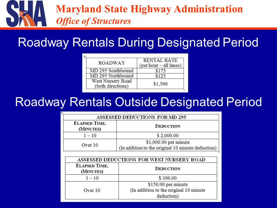 Maryland State Highway Administration Office of Structures Maryland State Highway Administration Office of Structures Established Bid Item