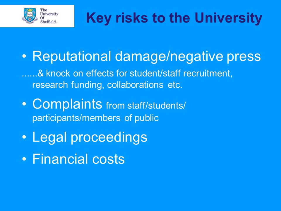 What affects risk.Research methods (e.g. covert) Focus of study (e.g.