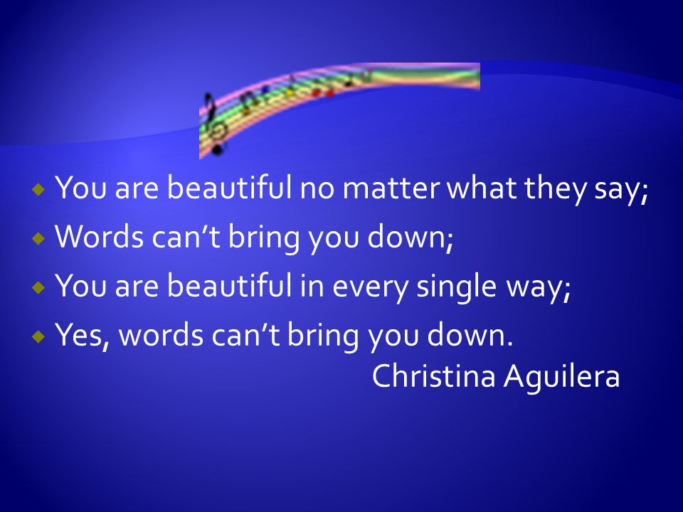 Draw pictures or designs, use words or phrases to indicate how many ways you are beautiful.