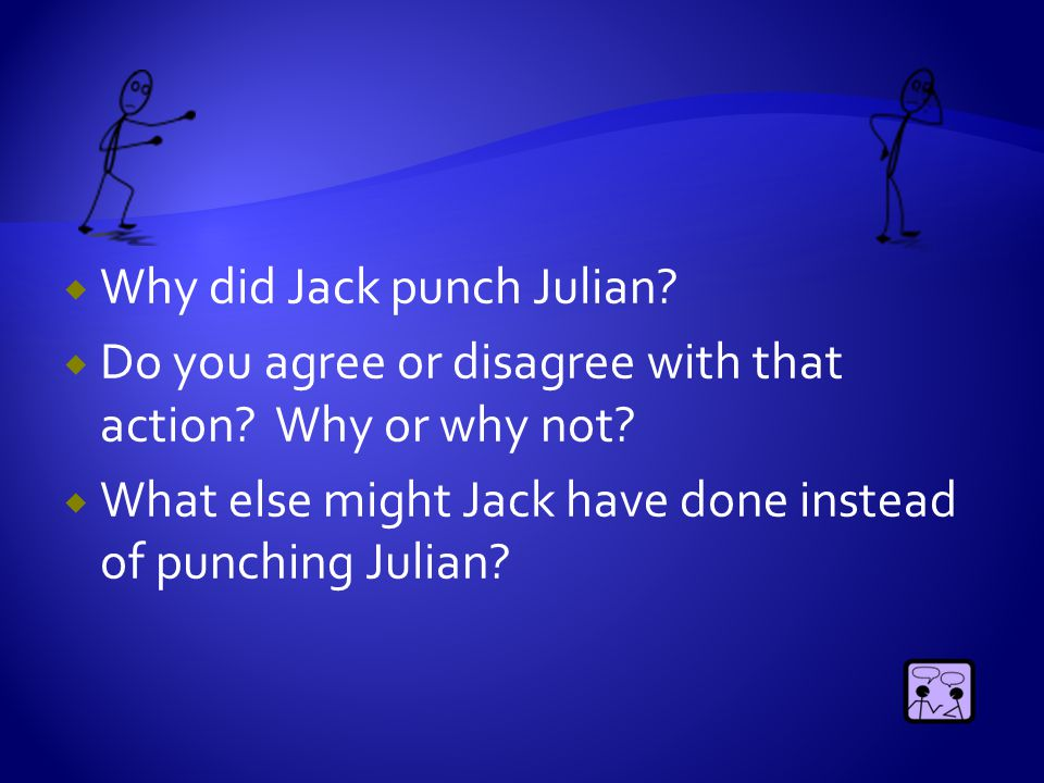  Why couldn't Jack tell the principal and his mother the reason he punched Julian.