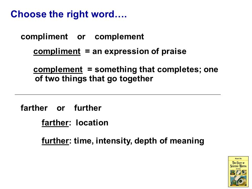 Choose the right word….