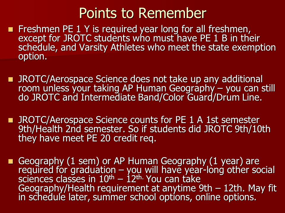 Points to Remember World Langauge is NOT, NOT, NOT required to earn diploma from GOHS!!.