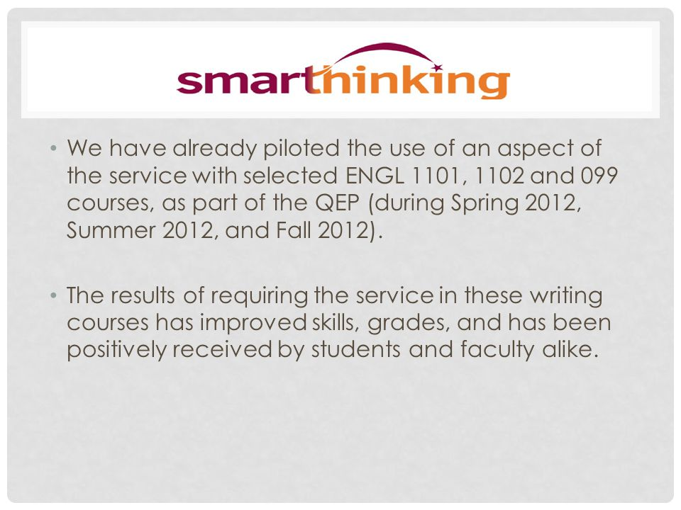 Smarthinking is an excellent online tool for students to have at their disposal.