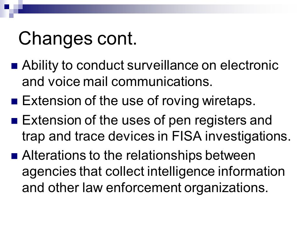 Results: Considerable increase in FISA investigations.