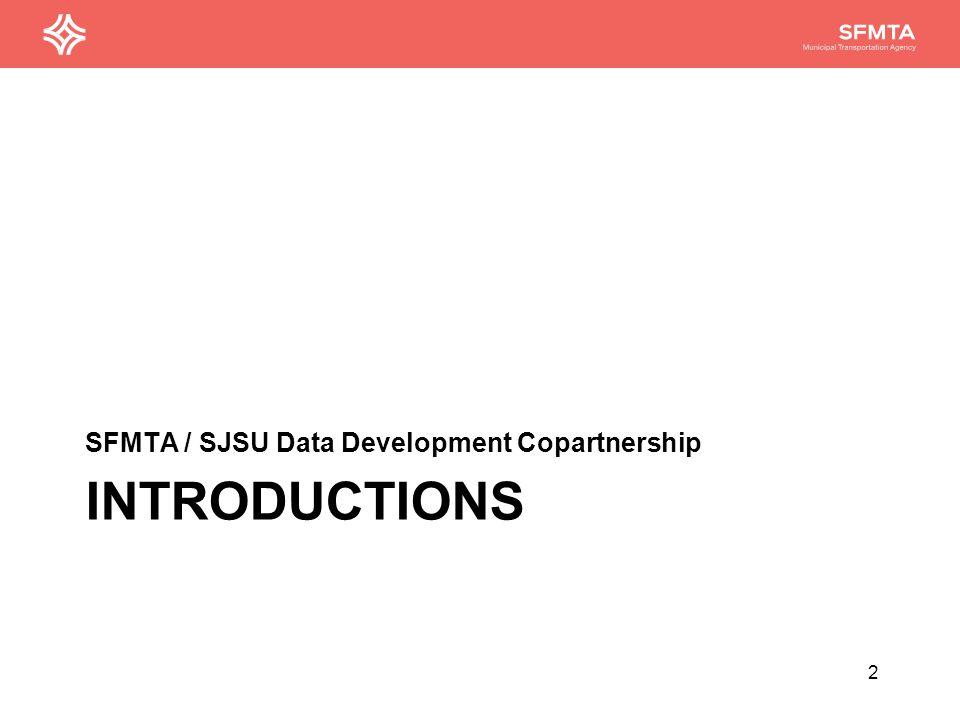 HOW THE SFMTA OPERATES SFMTA / SJSU Data Development Copartnership 3
