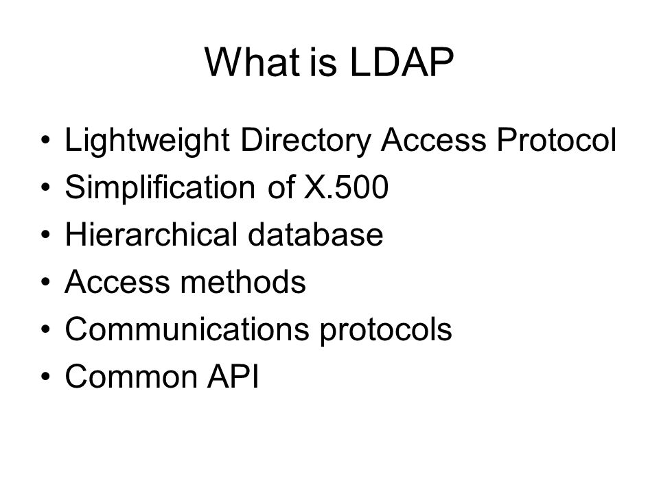 What uses LDAP.