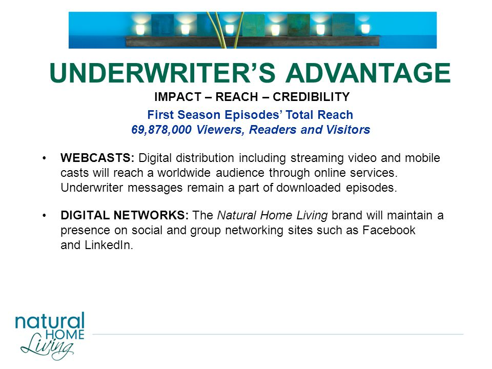 DVD: Premiere season DVD will include all 13 episodes with underwriter spots and bonus content.