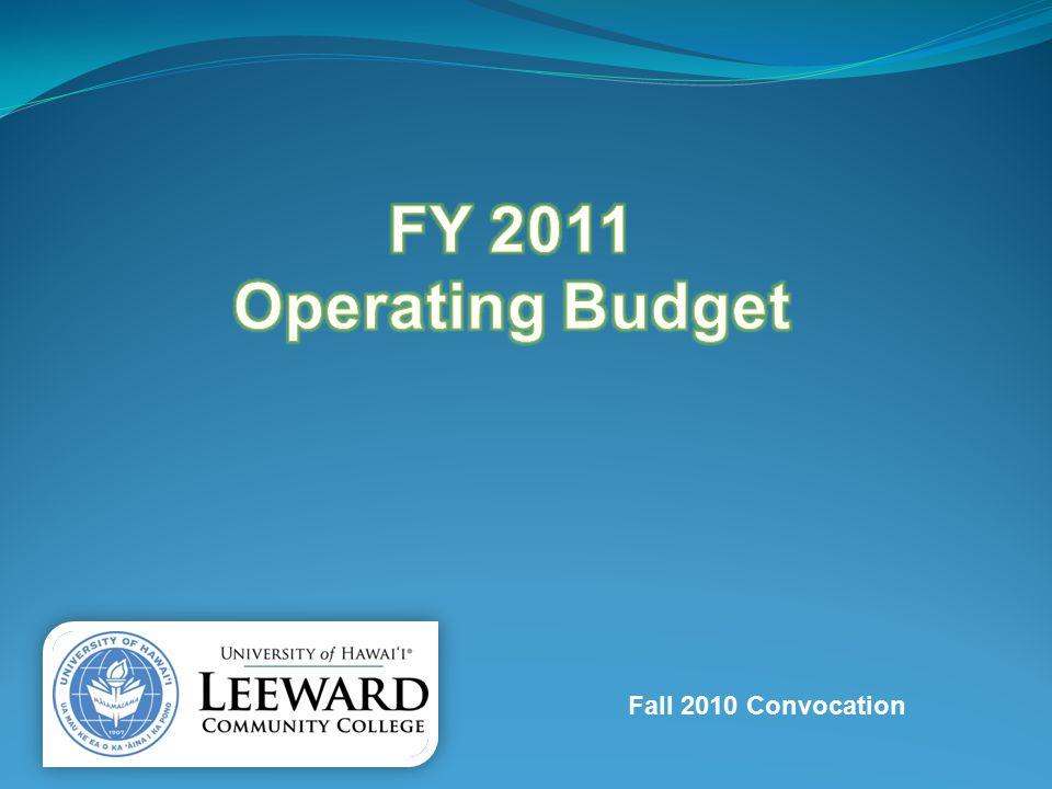 Budget Transparency Leeward Community College Operating Budget