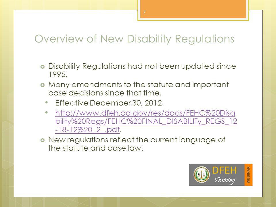Disability Regulations 1.