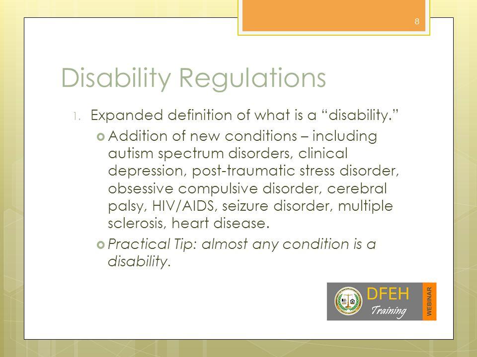 Disability Regulations 2.