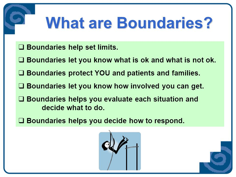Know Your Boundaries Is this part of my assigned volunteer role.