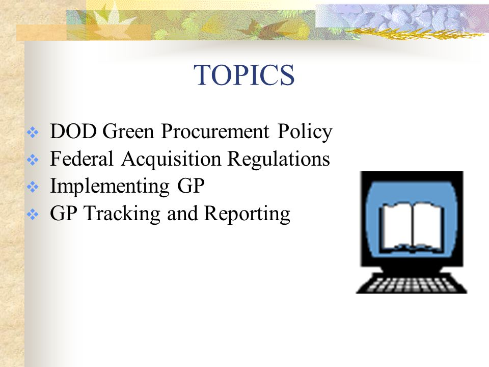 What do we mean by Green Procurement .