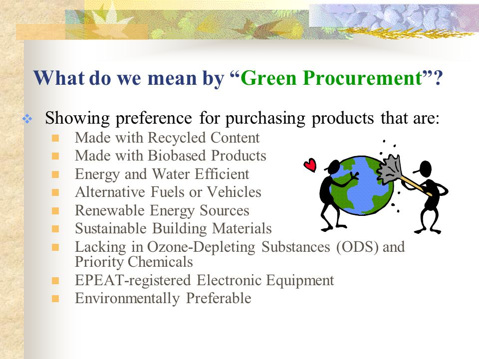 Why Buy Green.