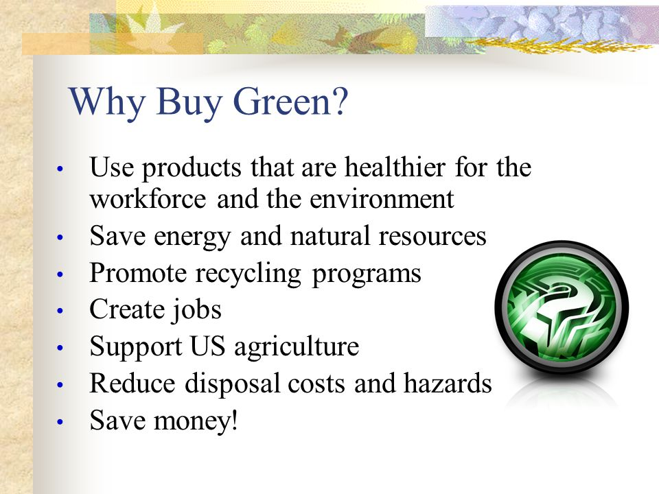 How Can We Go Green .