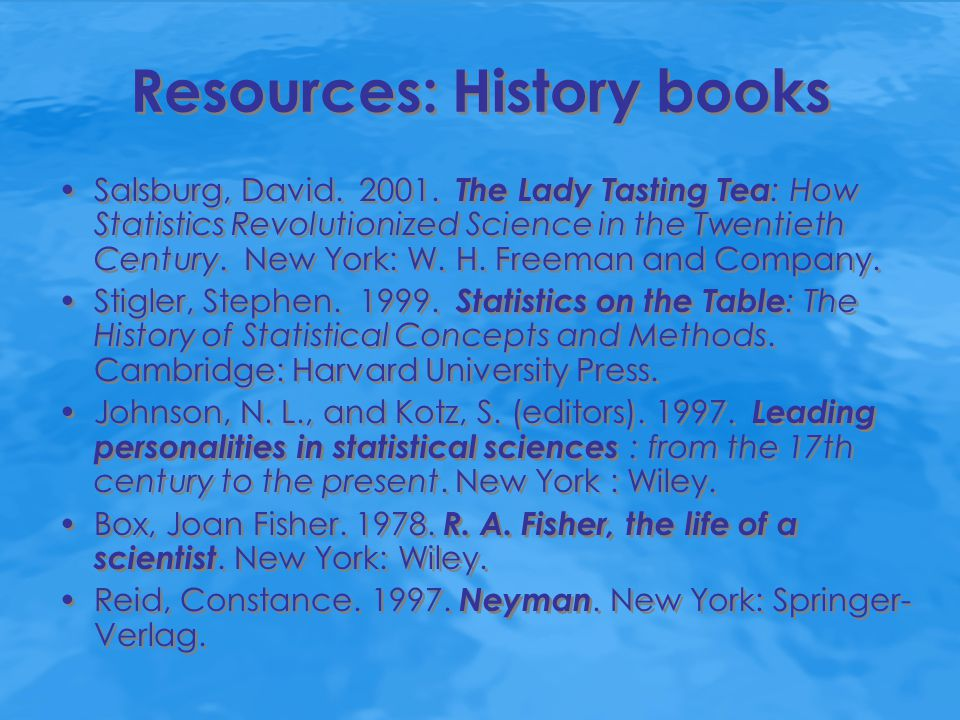 Introductory statistics textbooks that contain short biographies of famous statisticians Weiss, Neil A.